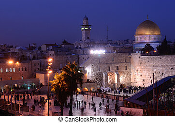 Western Wall and Dome of the Rock - The Western Wall is the...