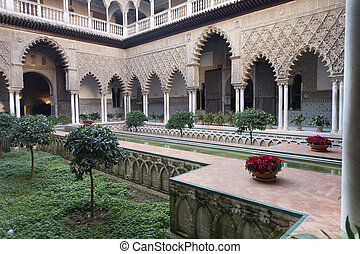 garden andalusian - typical Andalusian courtyard, from the...