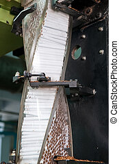 Modern cigarette factory - Modern cigarette factory, rows of...