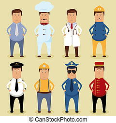 Worker set - Vector worker set - ofice worker, chef, doctor,...