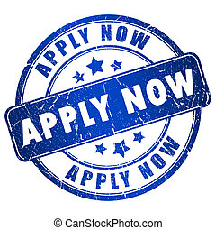 Apply now stamp - Apply now grunge stamp