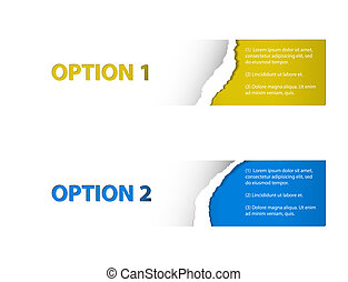 Set of Vector torn off Sample option stickers - Set of...