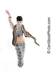 snake woman - belly dancer with snake