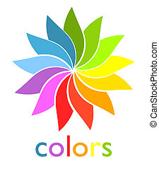 Rainbow fan - Colorful rainbow fan symbol Vector...