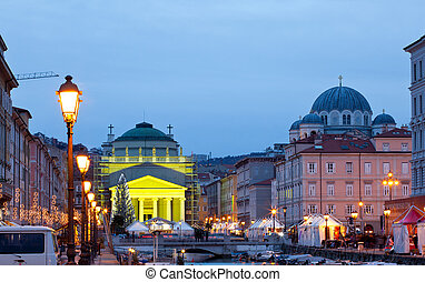 St Antonio cathedral, Trieste - View of St Antonio cathedral...