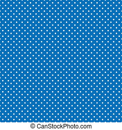 Seamless Polka Dots, Bright Blue - Seamless pattern, small...