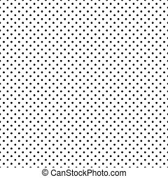 Seamless Black Polka Dots on White