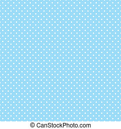 Seamless Polka Dots on Pastel Aqua