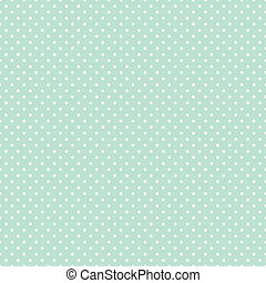 Seamless Polka Dots on Pastel Green - Seamless pattern,...