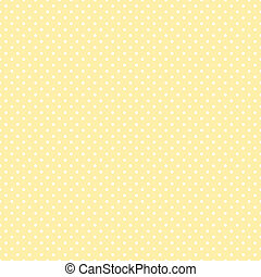 Seamless Polka Dots, Pastel Yellow - Seamless pattern, small...