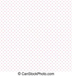 Seamless Pastel Pink Dots on White - Seamless pattern, small...