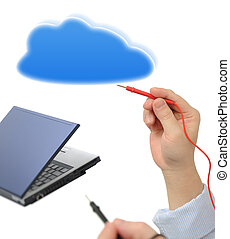 Testing with cloud computing