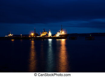 Port Authority near Cromarty Firth - Oil Rigs at Port...