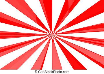 Red and White burst - Red White burst