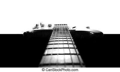 Electric guitar in black & white