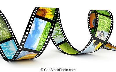 Film strip with images