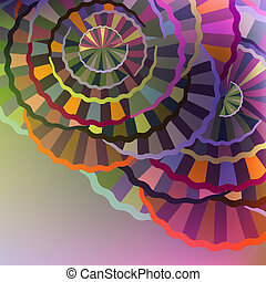 Abstract cycles - Multicolored abstract background with...