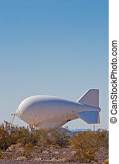 atado, aeróstato, radar, globo, V