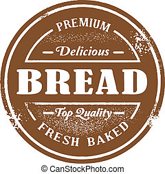 Vintage Style Bread Stamp - Vintage style fresh baked bread...