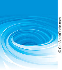 Swirling Water - Vector of swirling water background
