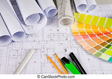 Architectural drawings, office tools - Architectural...
