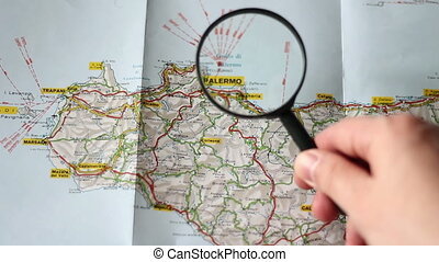 Finding Palermo on a map   - Finding Palermo on a map