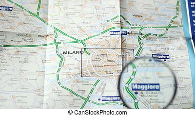 Finding Milano on a map   - Finding Milano on a map