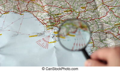 Finding Napoli on a map   - Finding Napoli on a map