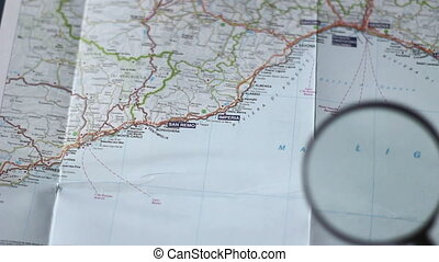 Finding San Remo on a map