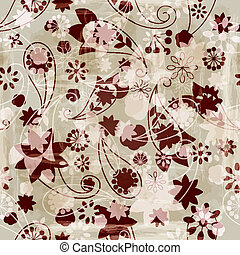 vector seamless spring vintage backgrond - vector seamless...
