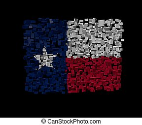 Texan flag on blocks illustration