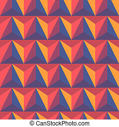 3d abstract pyramidal background. Colorful vector...