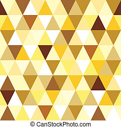 abstract gold seamless triangle pattern. Vector illustration