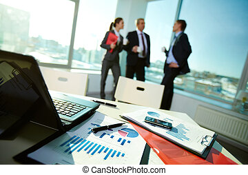 Business objects - Image of business documents on workplace...
