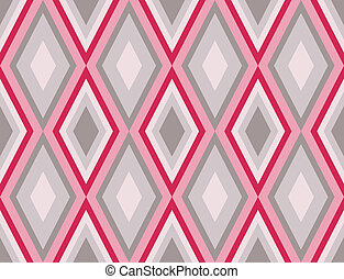 diamonds seamless retro abstract pattern