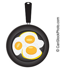 Omelette from egg on griddle - Illustration of the omelette...