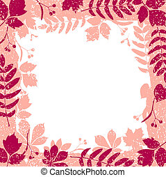 autumn leaves grange border vector colorful clipart