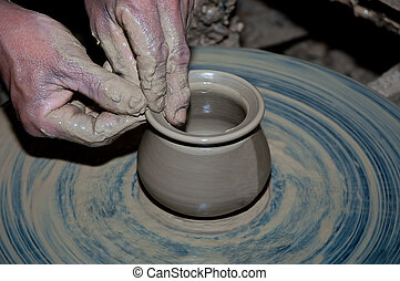 The Process pottery of earthenware