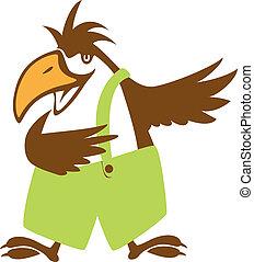 funy bird symbol.vector illustration
