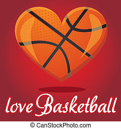 I love basketball vector illustration effect 3D