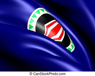 Autonomous Region of Bougainville Flag. Close Up.