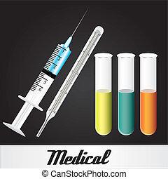 medical elements over black - medical elements over black,...