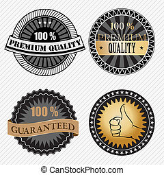 Set of vintage retro premium quality badges and labels...