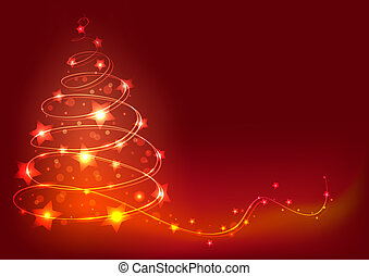 Christmas tree background. Abstract colorful vector...