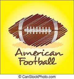 american football drawing - american footbal drawing over...