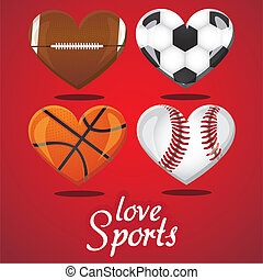 i love sports - textures of different sports balls in the...
