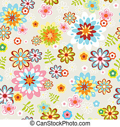 cute seamless flower pattern line art - cute seamless...