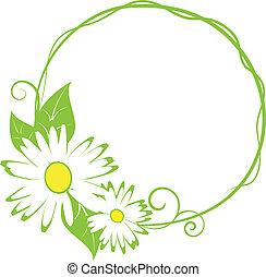 funny spring floral border.