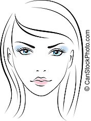 beauty face girl. Vector