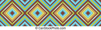 seamless abstract african ethnic ornament Vector...